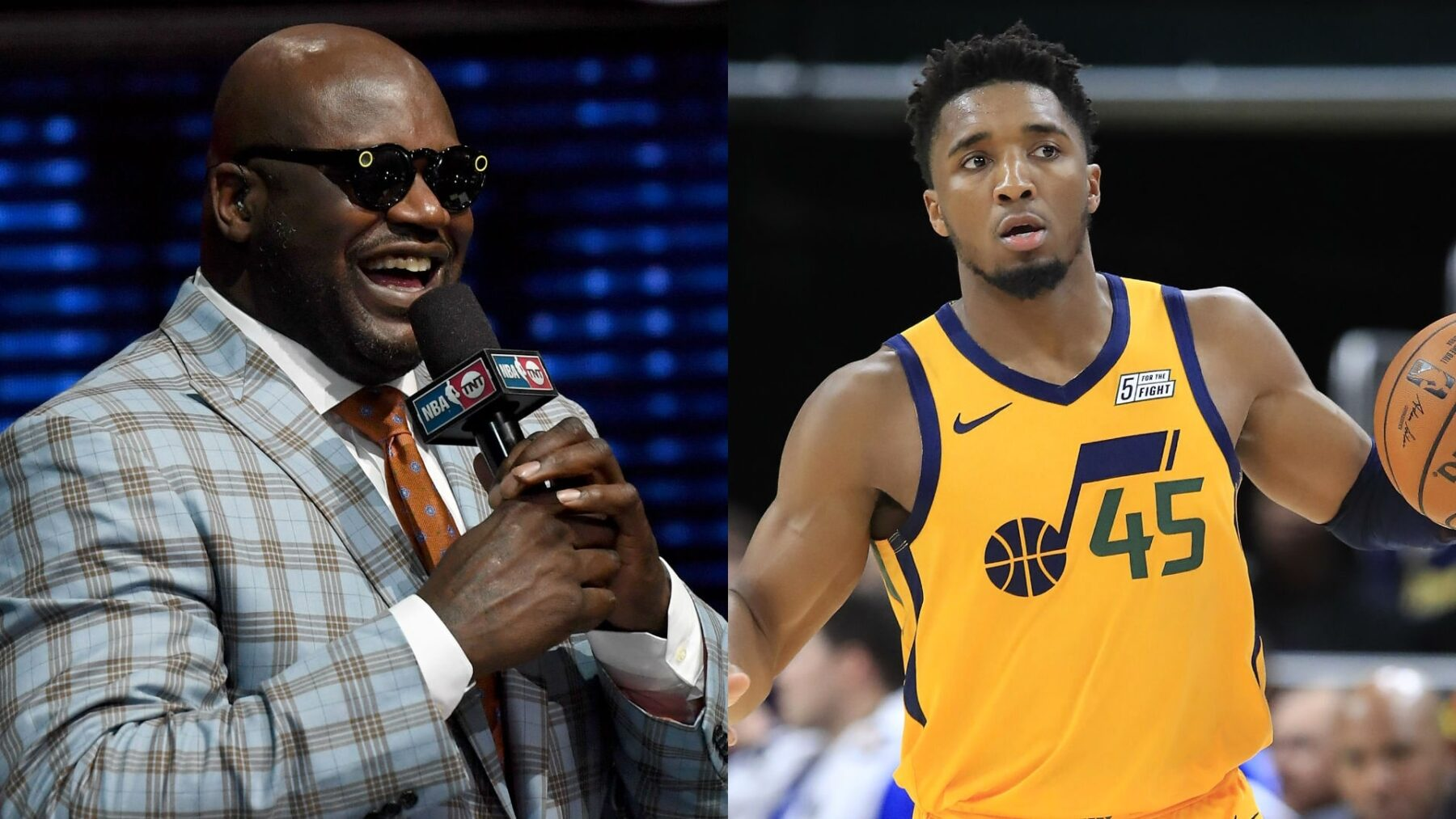 Shaq doubles down, challenges artist who Photoshopped Donovan Mitchell dunking on him to 1-on-1