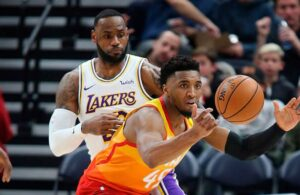 LeBron James and Donovan Mitchell