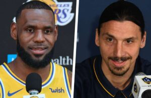 LeBron James and Zlatan Ibrahimovic
