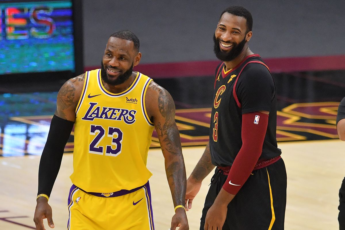 Andre Drummond and LeBron James