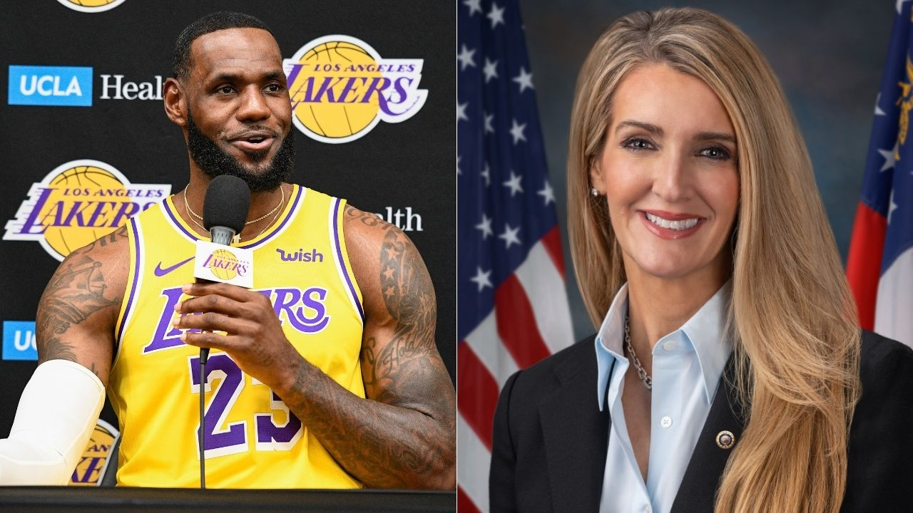 LeBron James and Kelly Loeffler