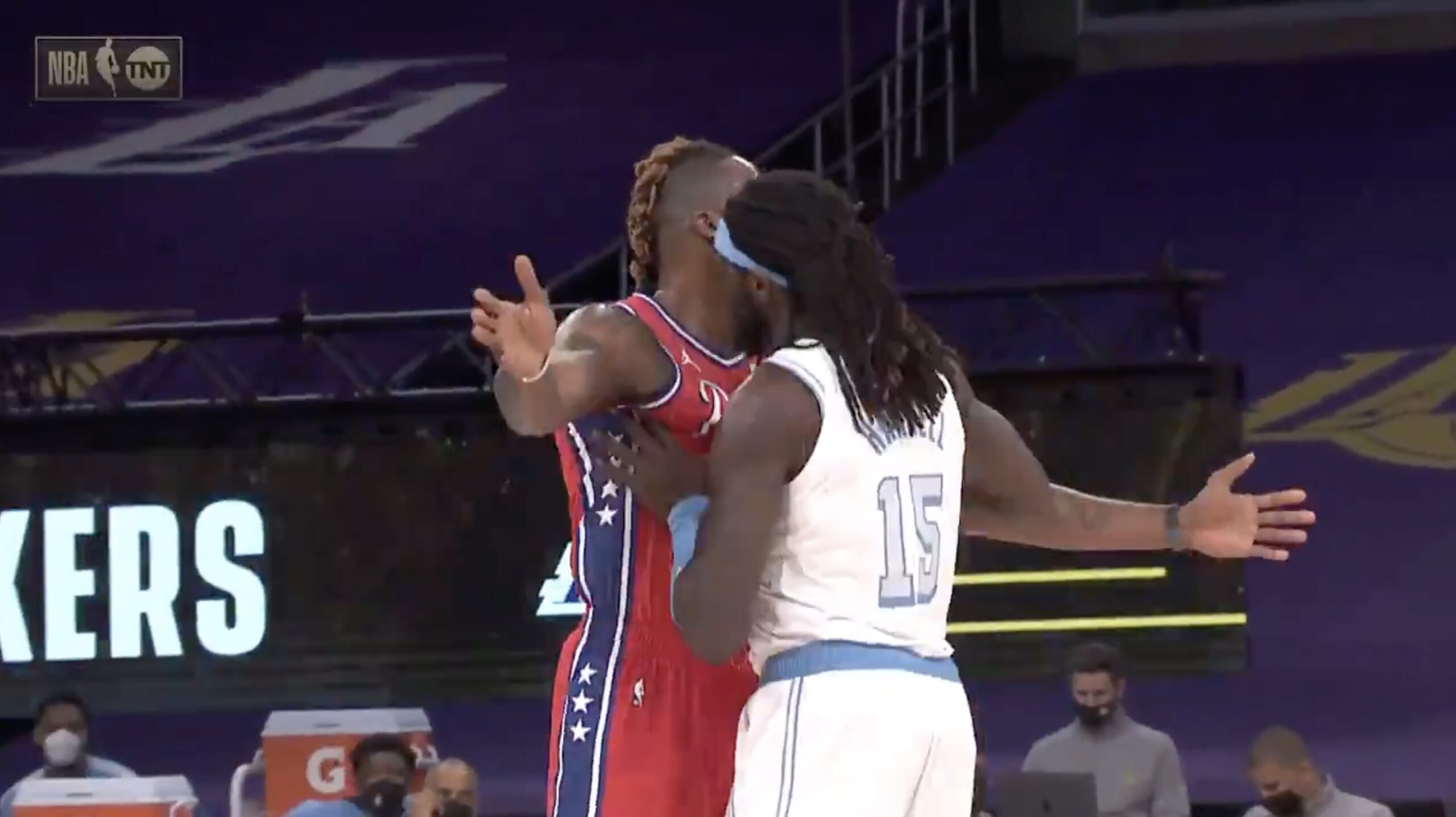 Dwight Howard and Montrezl Harrell