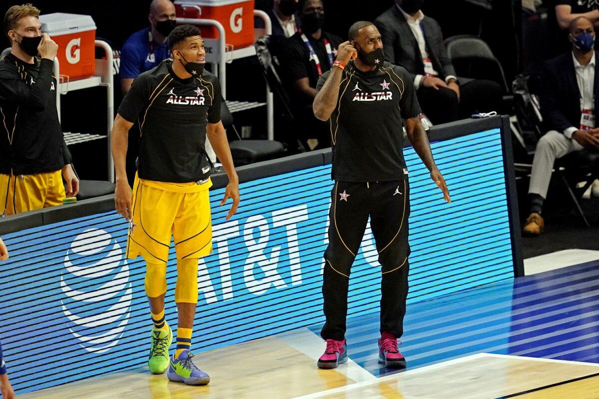 Giannis Antetokounmpo and LeBron James