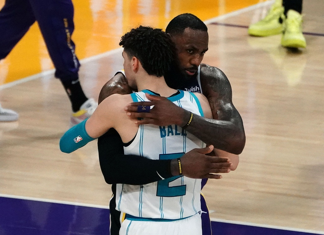 LeBron James and LaMelo Ball