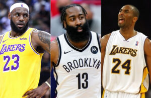 LeBron James, James Harden and Kobe Bryant