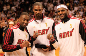 Dwyane Wade, Chris Bosh and LeBron James