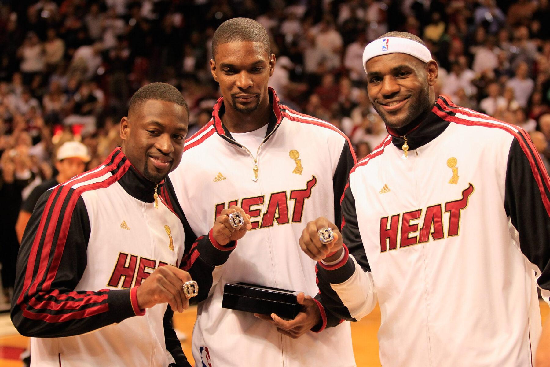 Dwyane Wade, Chris Bosh and LeBron James