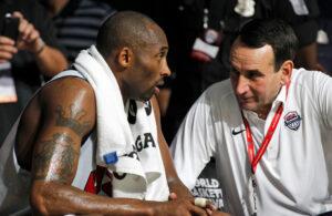 Mike Krzyzewski and Kobe Bryant
