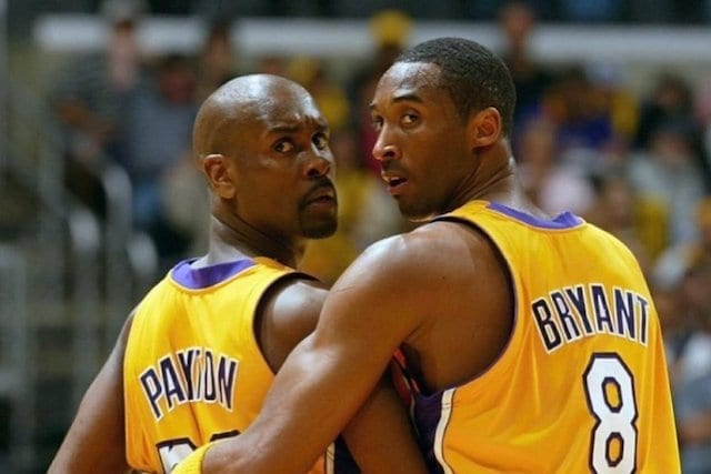 Gary Payton and Kobe Bryant