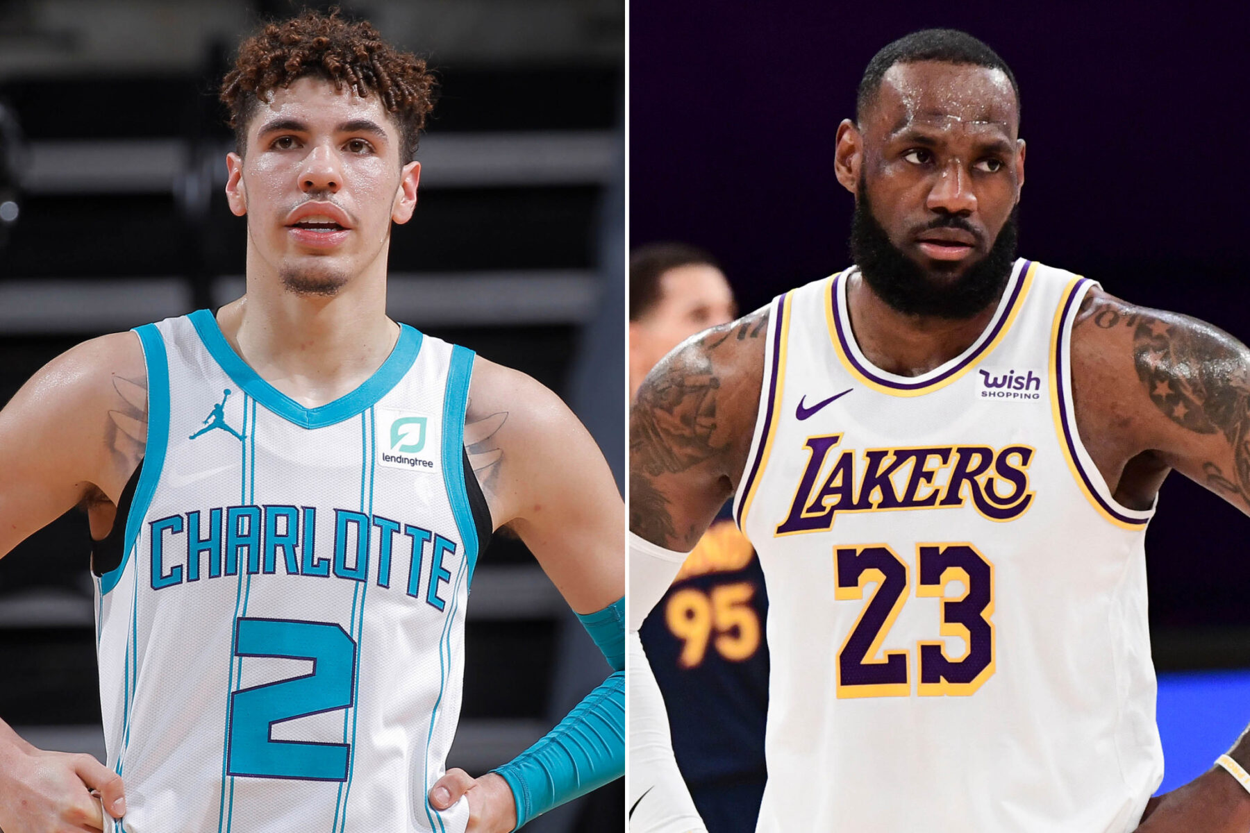 LaMelo Ball and LeBron James