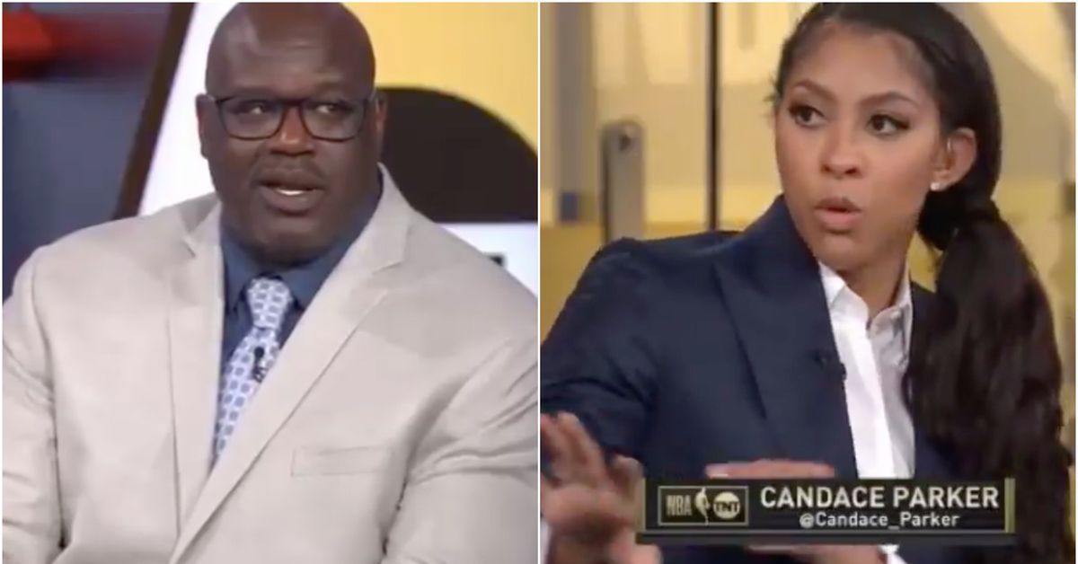 Shaquille O'Neal and Candace Parker