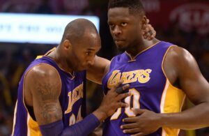Julius Randle and Kobe Bryant