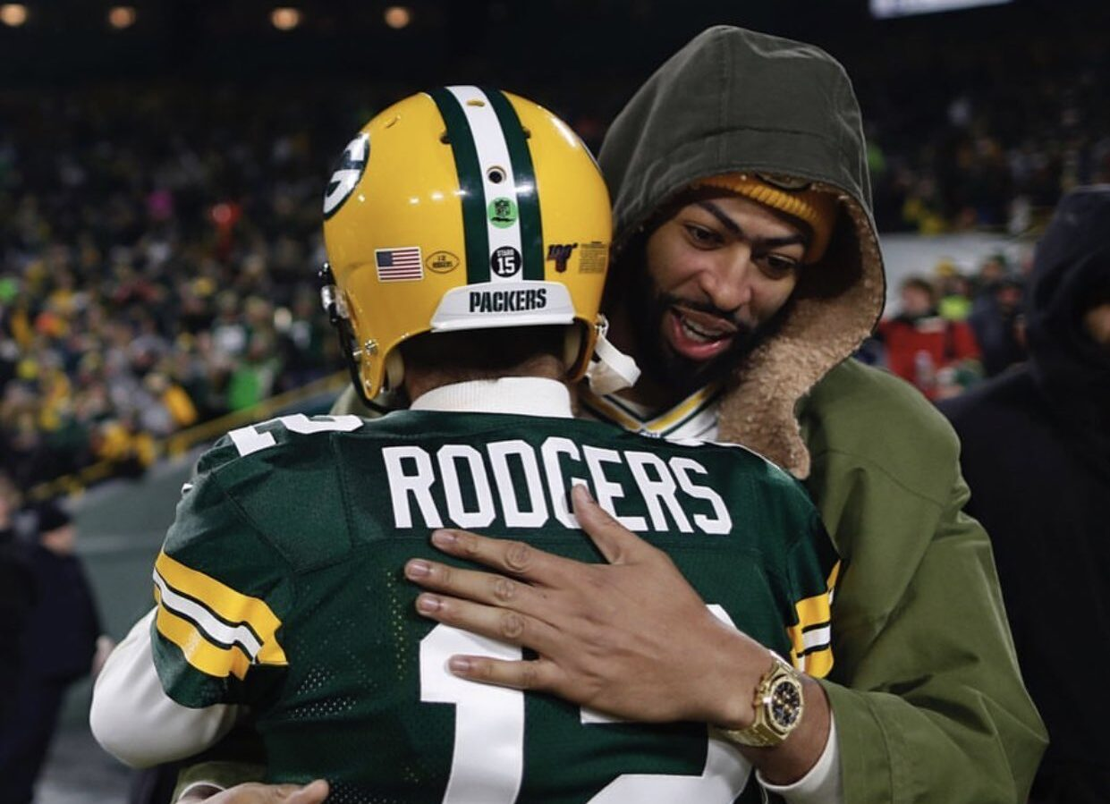 Anthony Davis and Aaron Rodgers