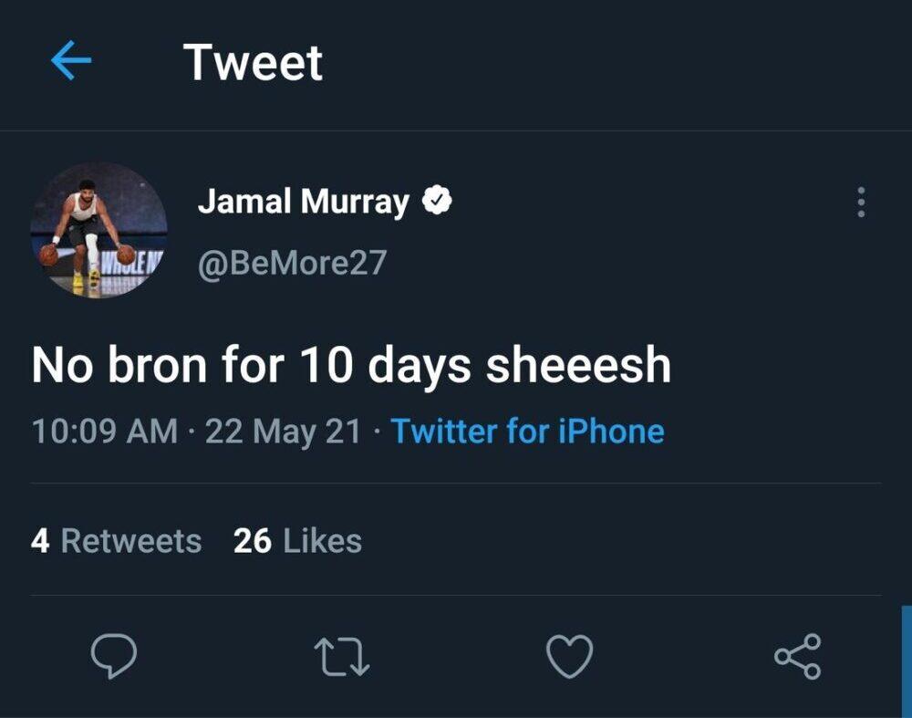 Jamal Murry and LeBron James