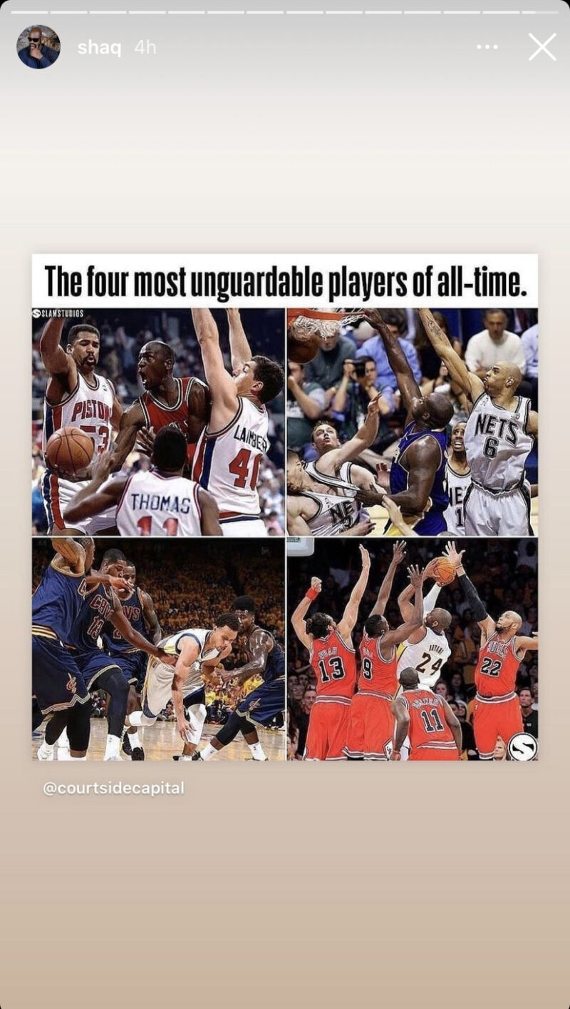 Shaq's most unguardable players