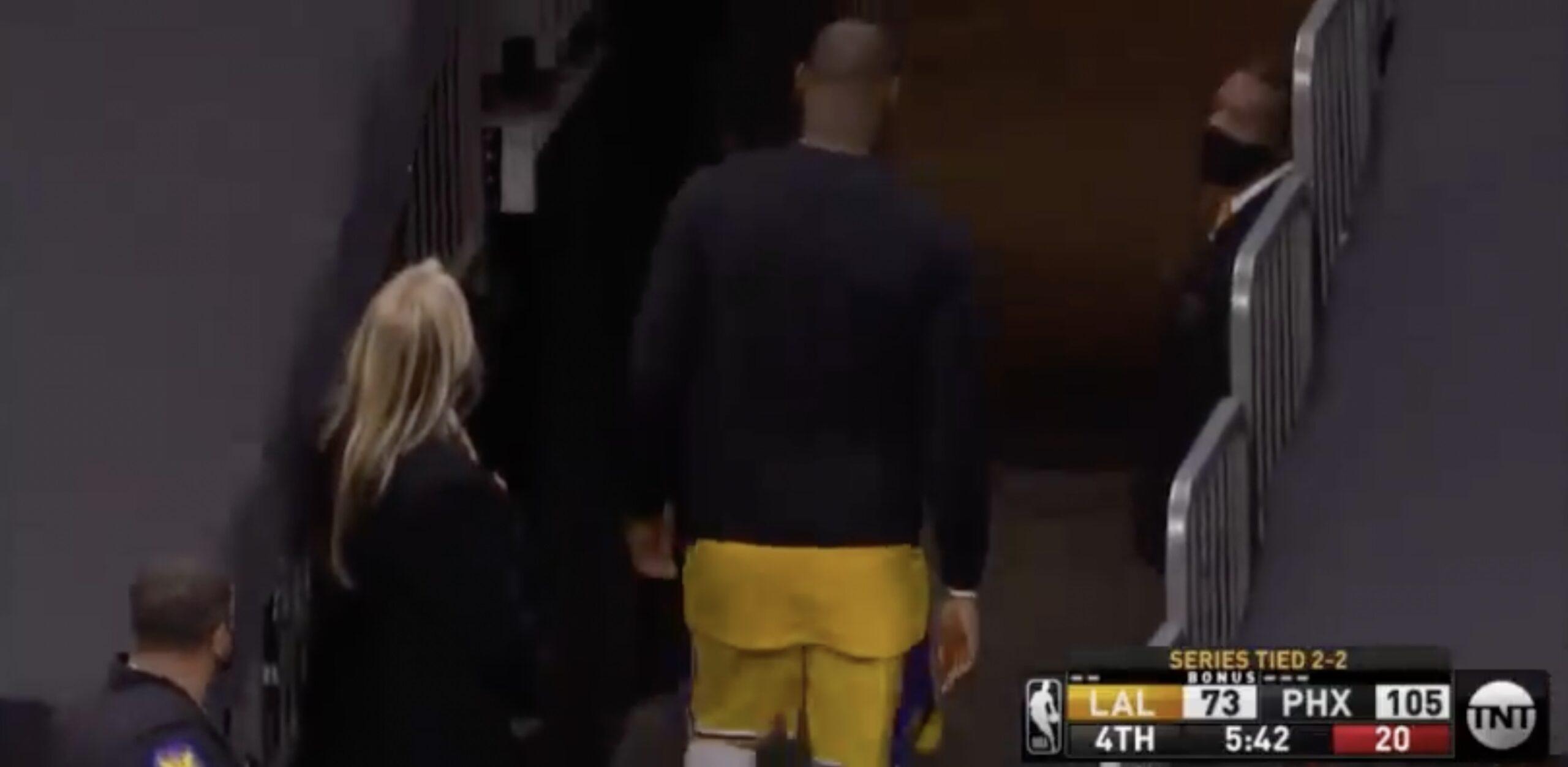 LeBron James locker room