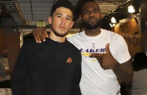Devin Booker and LeBron James