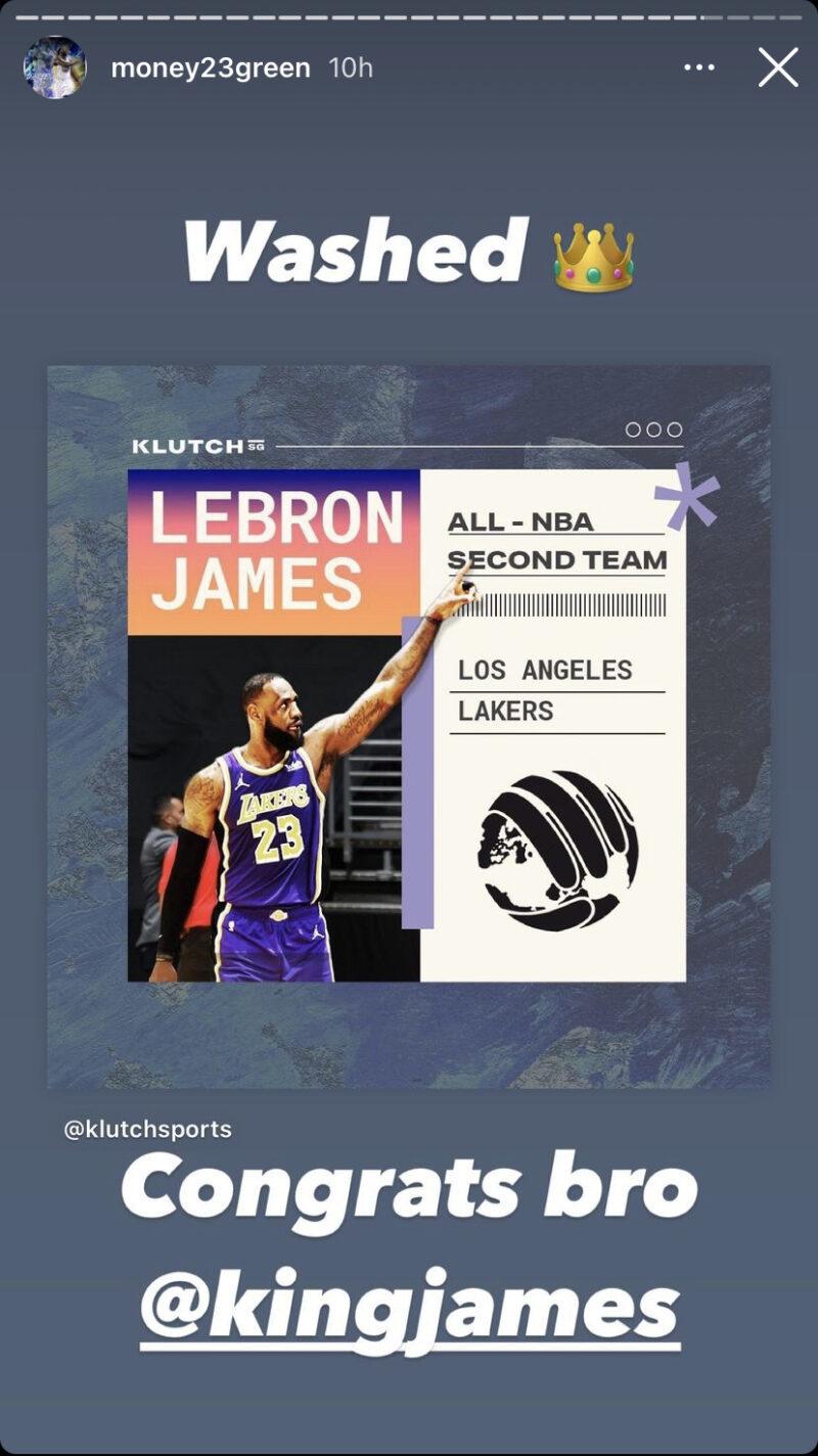 Draymond Green and LeBron James Instagram