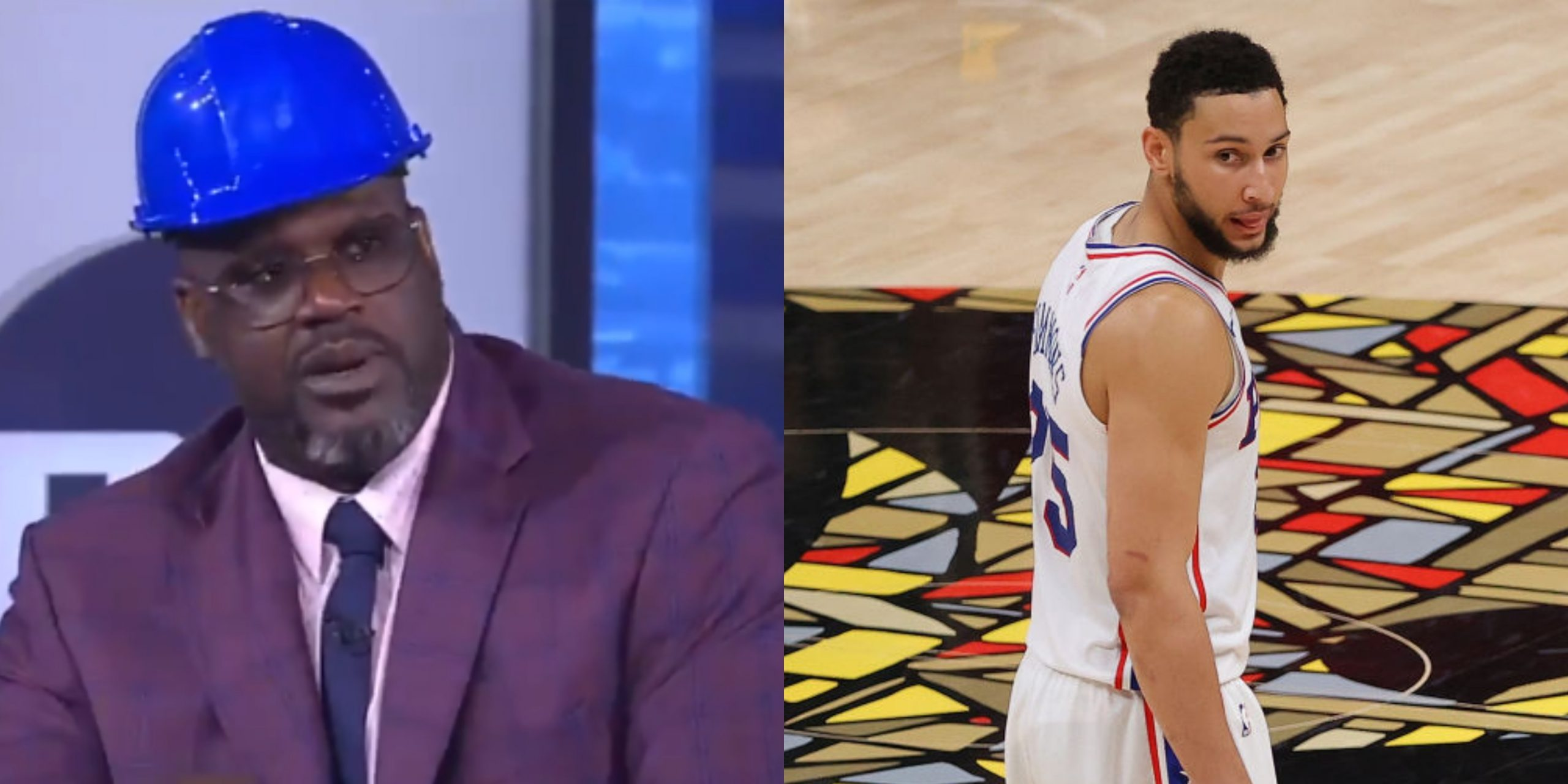 Shaquille O'Neal and Ben Simmons