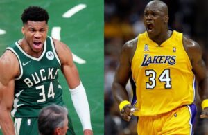Giannis Antetokounmpo and Shaquille O'Neal