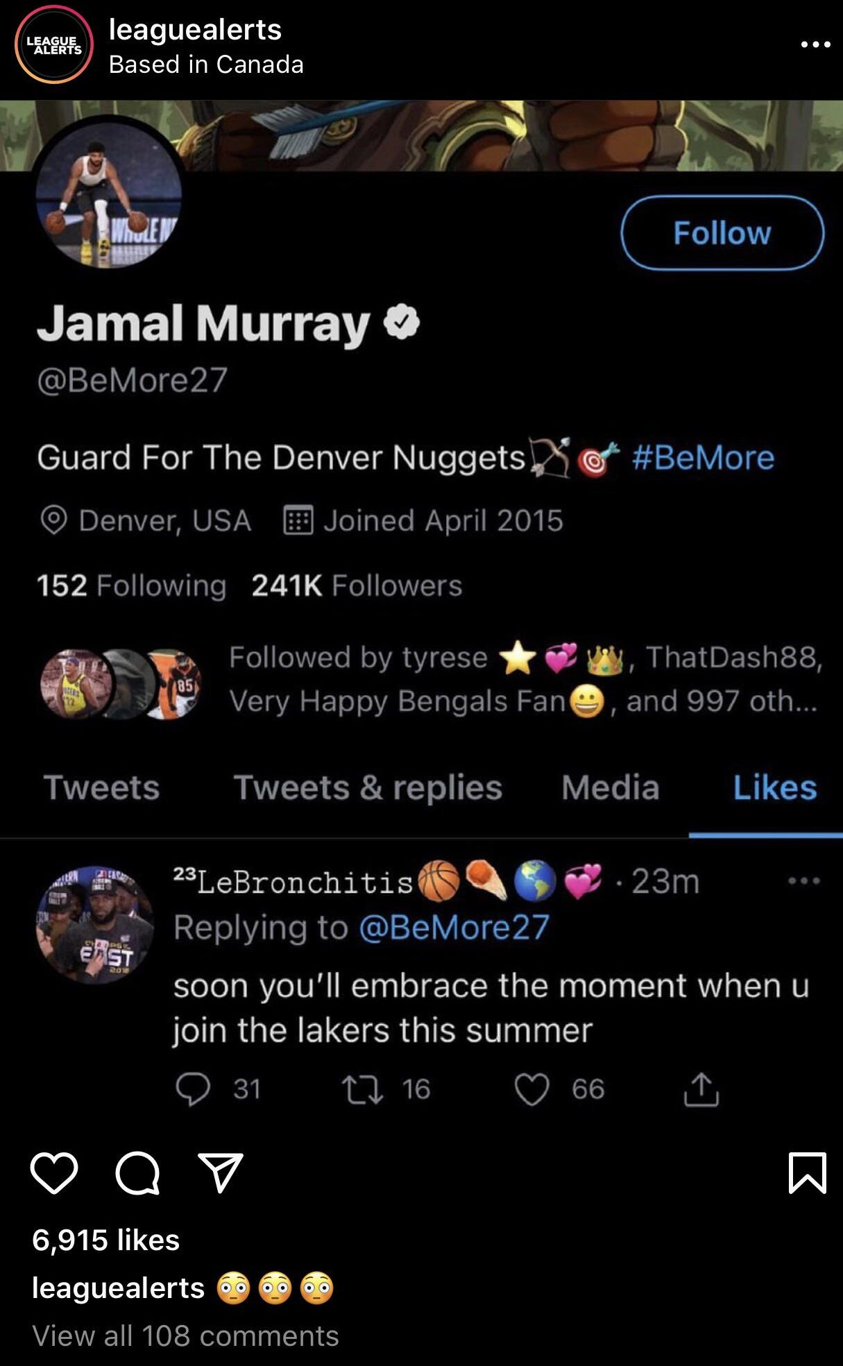 Jamal Murray and Los Angeles Lakers