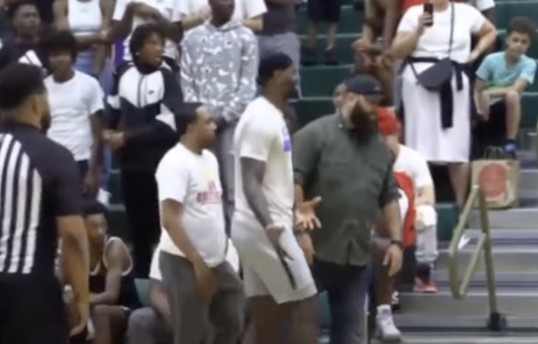WATCH: LeBron James Makes a Scene at son Bronny's Basketball Game Over Announcer's Comment