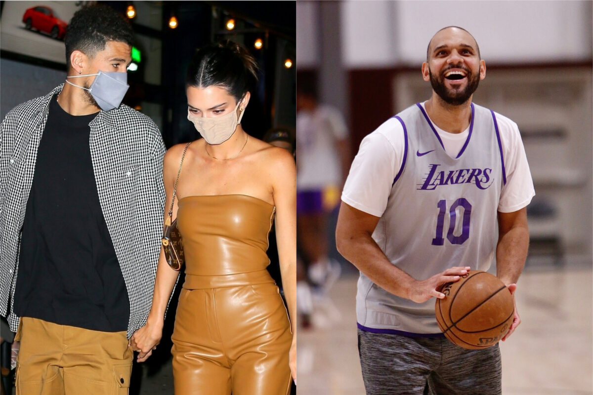 Devin Booker, Kendall Jenner and Jared Dudley