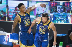 Stephen Curry and Kent Bazmore