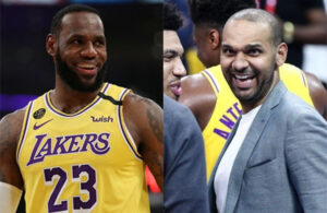Jared Dudley and LeBron James Lakers