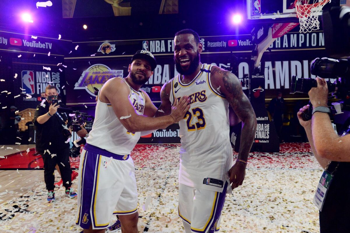 Jared Dudley and LeBron James