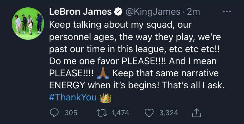 LeBron James Twitter