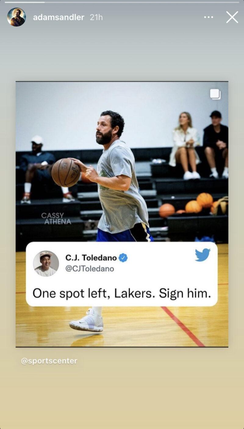 Adam Sandler Lakers