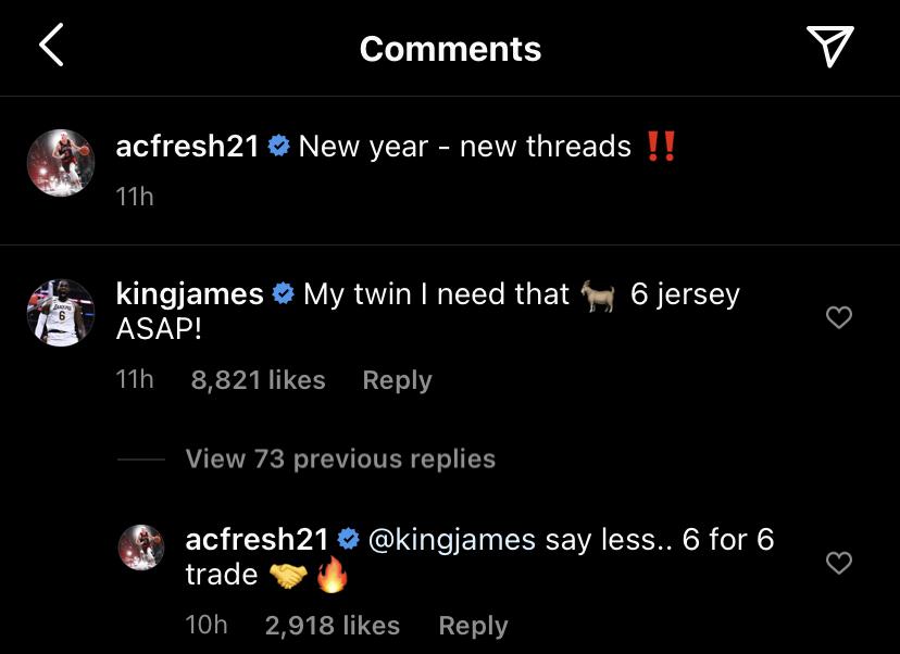 LeBron James and Alex Caruso