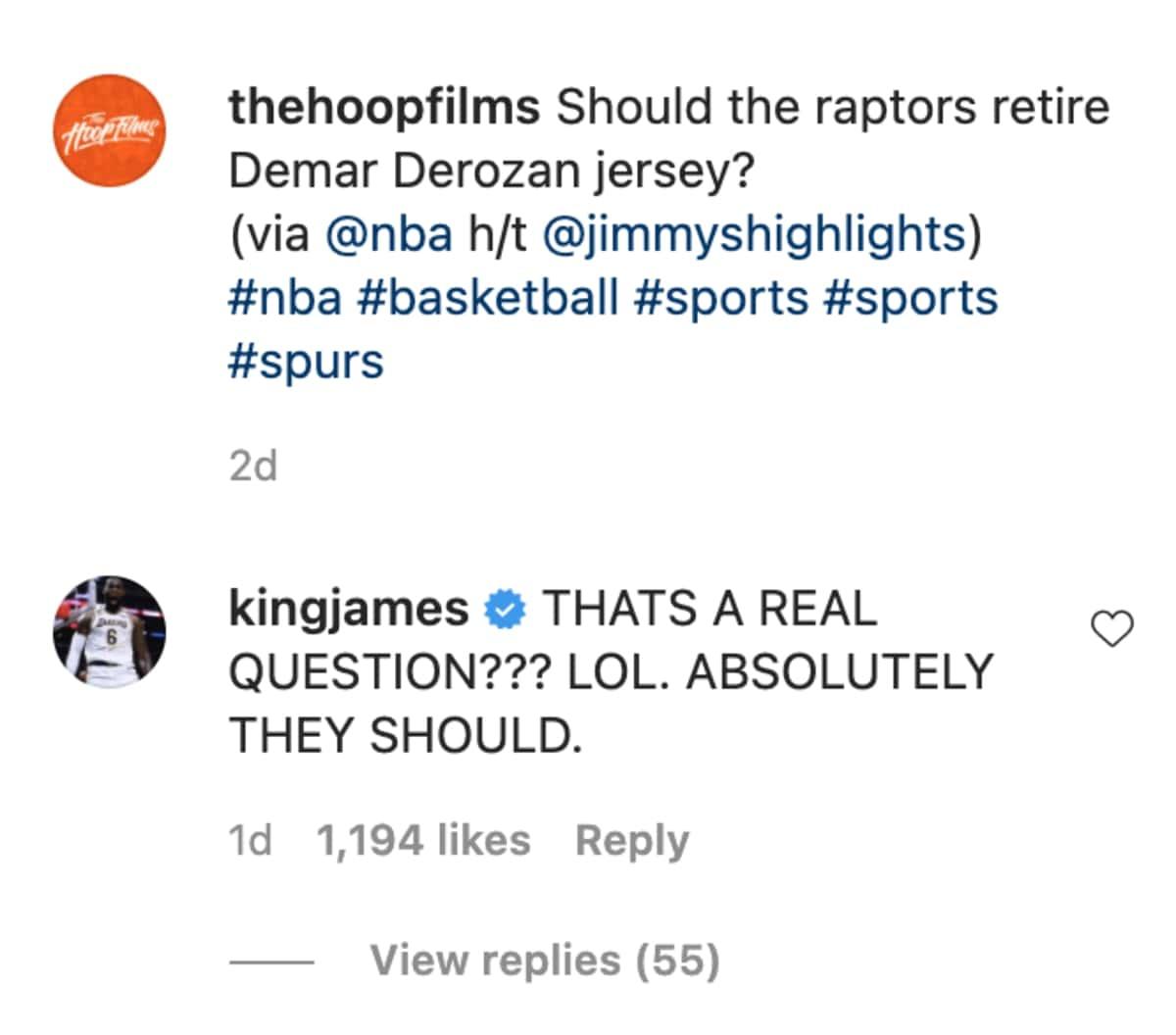 LeBron James and DeMar DeRozan
