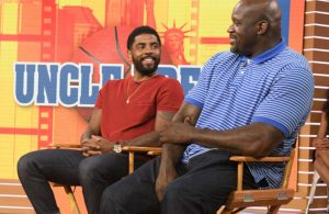 Kyrie Irving and Shaquille O'Neal