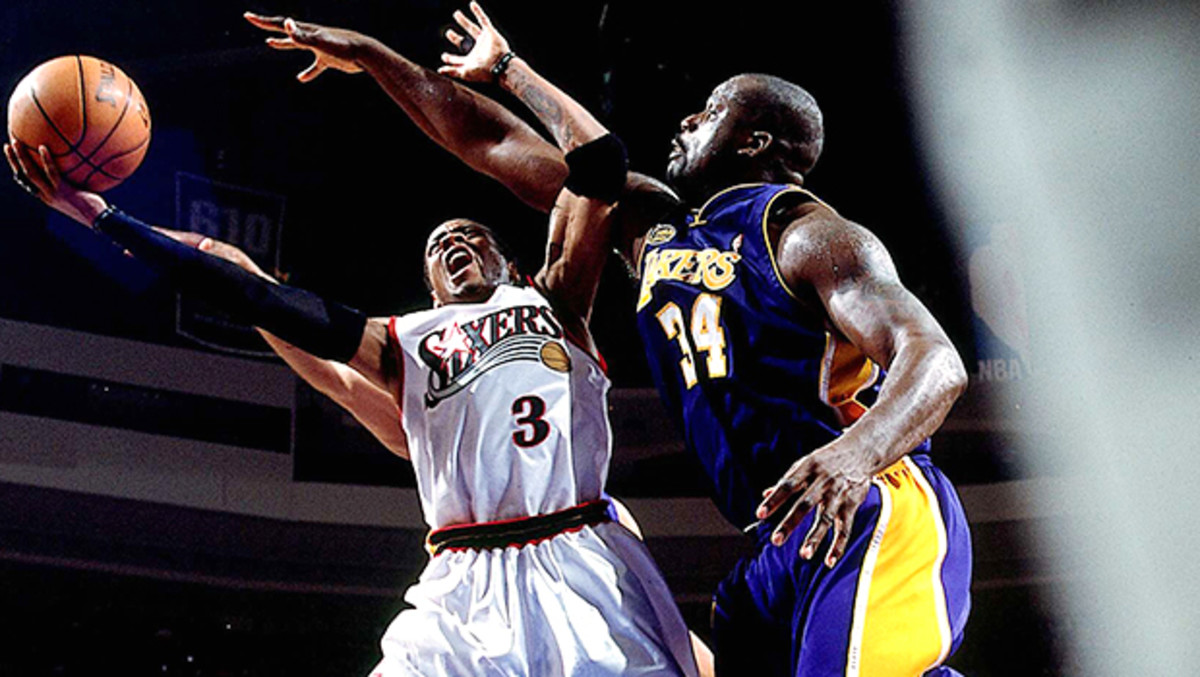 Allen Iverson and Shaquille O'Neal
