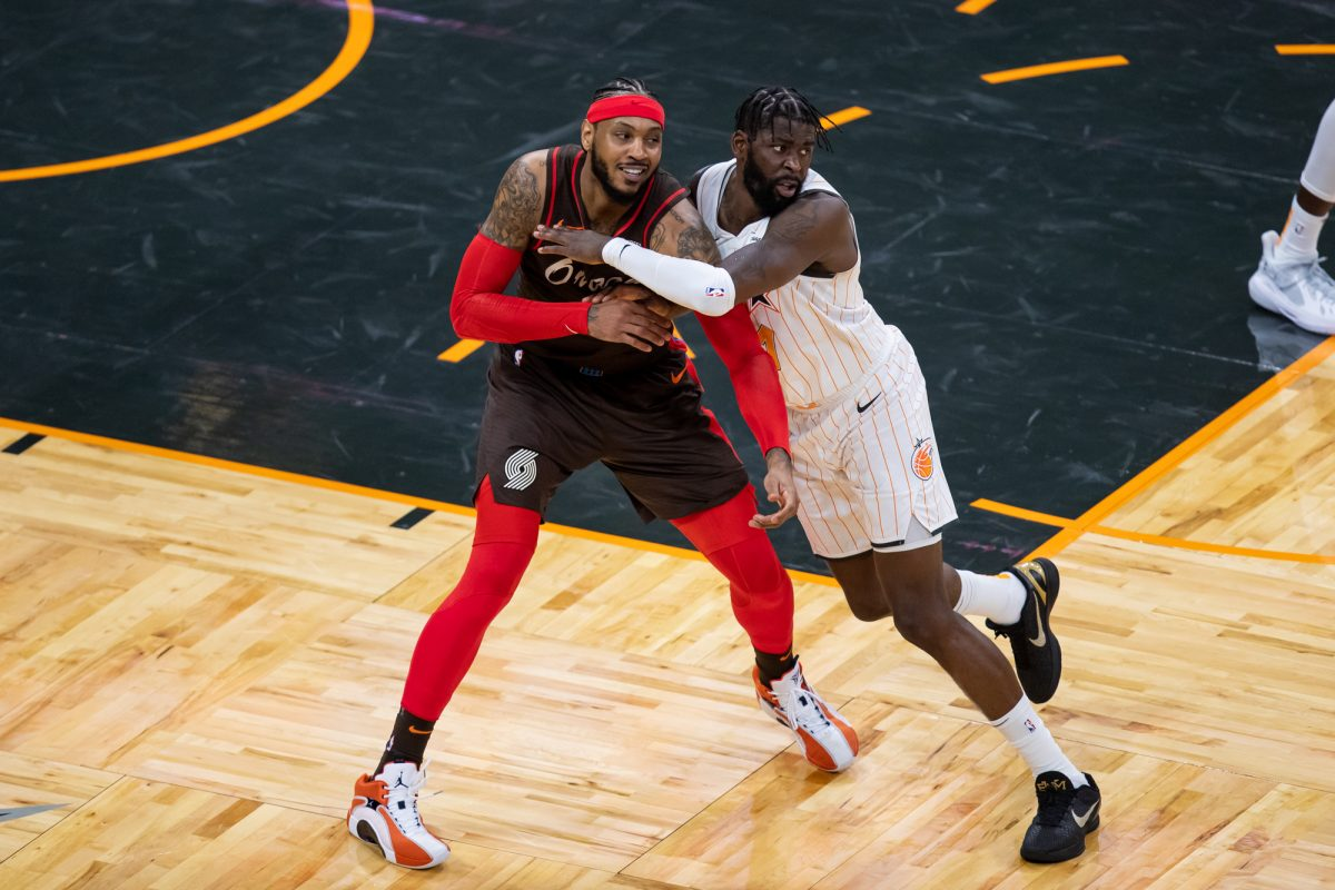 James Ennis and Carmelo Anthony