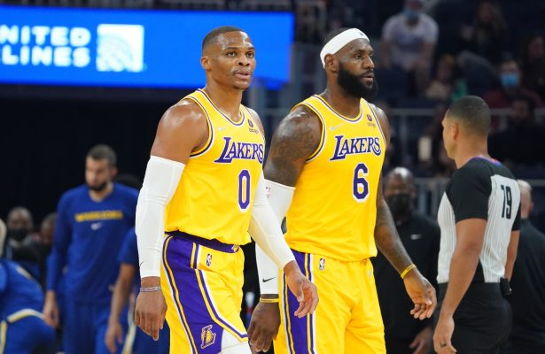 LeBron James and Russell Westbrook