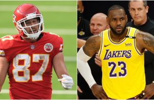 Travis Kelce and LeBron James